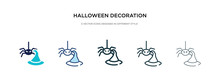 Halloween Decoration Icon In D...