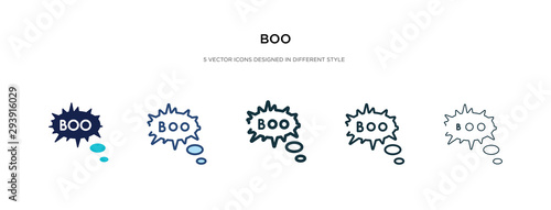 Fototapeta boo icon in different style vector illustration