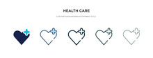 Health Care Icon In Different ...