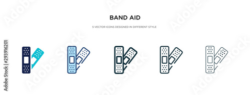 Fotografie, Obraz band aid icon in different style vector illustration