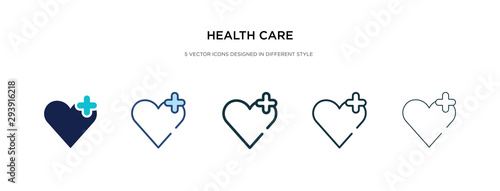 Fotografiet health care icon in different style vector illustration
