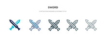 Sword Icon In Different Style ...