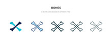 Bones Icon In Different Style ...
