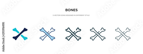 Fotomural bones icon in different style vector illustration