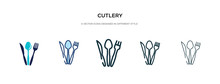 Cutlery Icon In Different Styl...