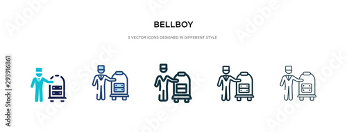 Fényképezés bellboy icon in different style vector illustration
