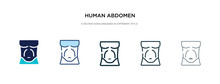 Human Abdomen Icon In Differen...