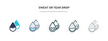 Sweat Or Tear Drop Icon In Dif...