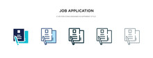 Job Application Icon In Differ...
