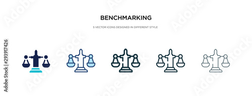 Photo benchmarking icon in different style vector illustration