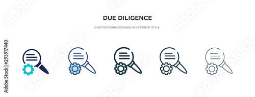Fotografie, Obraz due diligence icon in different style vector illustration