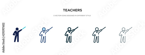 Foto teachers icon in different style vector illustration