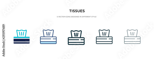 Fotografia  tissues icon in different style vector illustration