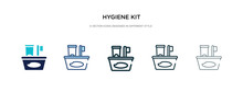 Hygiene Kit Icon In Different Style Vector Illustration. Two Colored And Black Hygiene Kit Vector Icons Designed In Filled, Outline, Line And Stroke Style Can Be Used For Web, Mobile, Ui