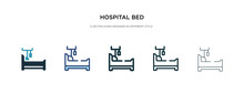 Hospital Bed Icon In Different...