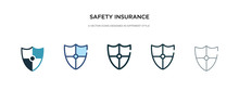 Safety Insurance Icon In Different Style Vector Illustration. Two Colored And Black Safety Insurance Vector Icons Designed In Filled, Outline, Line And Stroke Style Can Be Used For Web, Mobile, Ui
