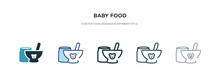 Baby Food Icon In Different St...