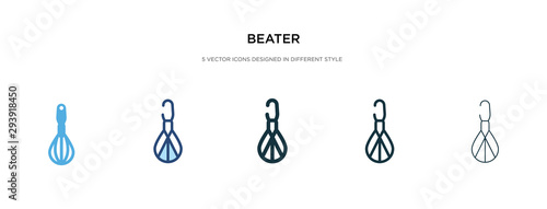 beater icon in different style vector illustration Canvas Print