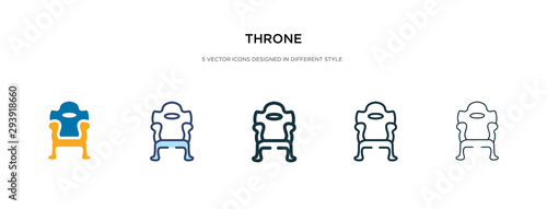 throne icon in different style vector illustration Fototapet