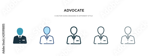 Photo advocate icon in different style vector illustration