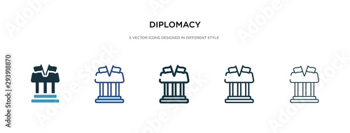 Fotografía  diplomacy icon in different style vector illustration