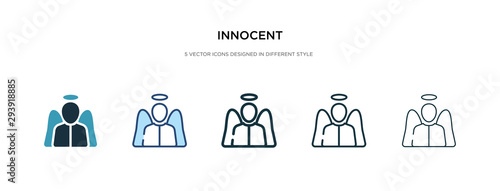 innocent icon in different style vector illustration Fototapet