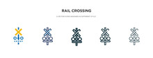 Rail Crossing Icon In Differen...