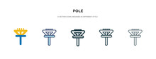 Pole Icon In Different Style V...