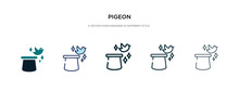 Pigeon Icon In Different Style...
