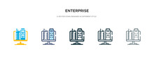 Enterprise Icon In Different S...