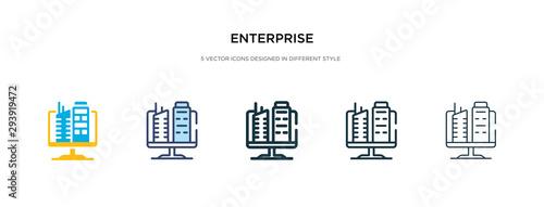enterprise icon in different style vector illustration Fototapete
