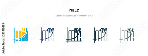 Obraz yield icon in different style vector illustration. two colored and black yield vector icons designed in filled, outline, line and stroke style can be used for web, mobile, ui - fototapety do salonu