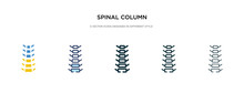 Spinal Column Icon In Differen...