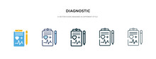 Diagnostic Icon In Different S...