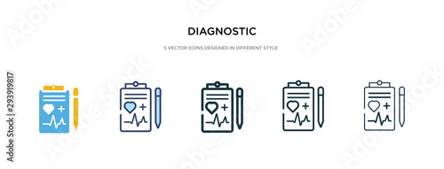 Cuadros en Lienzo diagnostic icon in different style vector illustration
