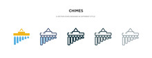 Chimes Icon In Different Style Vector Illustration. Two Colored And Black Chimes Vector Icons Designed In Filled, Outline, Line And Stroke Style Can Be Used For Web, Mobile, Ui