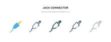 Jack Connector Icon In Differe...