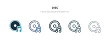 Disc Icon In Different Style V...