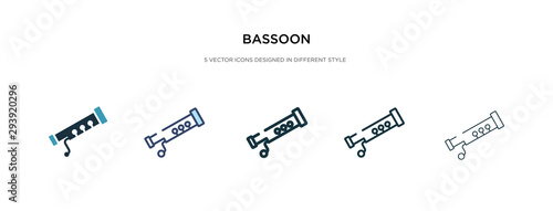 bassoon icon in different style vector illustration Wallpaper Mural