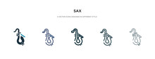 Sax Icon In Different Style Ve...