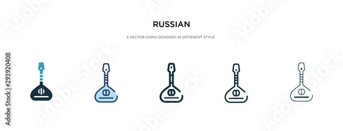Photo russian icon in different style vector illustration