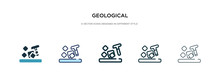 Geological Icon In Different S...