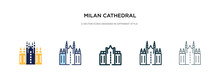 Milan Cathedral Icon In Differ...