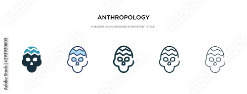 anthropology icon in different style vector illustration Wallpaper Mural