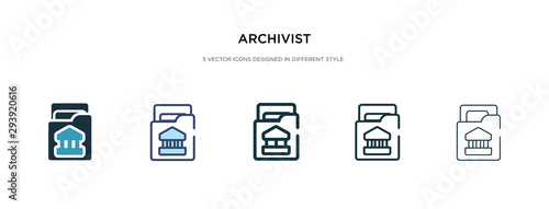 archivist icon in different style vector illustration Wallpaper Mural