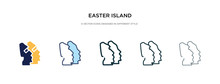 Easter Island Icon In Different Style Vector Illustration. Two Colored And Black Easter Island Vector Icons Designed In Filled, Outline, Line And Stroke Style Can Be Used For Web, Mobile, Ui
