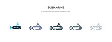 Submarine Icon In Different St...