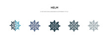Helm Icon In Different Style V...