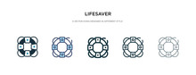 Lifesaver Icon In Different St...