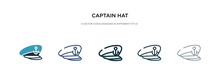 Captain Hat Icon In Different ...
